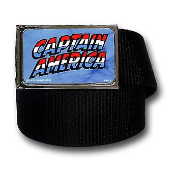 Kapteeni Amerikka Logo Musta Web vyö
