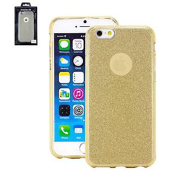 Perlecom Back cover Apple iPhone 6, iPhone 6S Gold, efect glitter