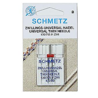 Schmetz Sewing Machine Needle - Twin (Différentes Tailles)