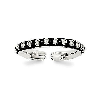 925 plata de ley sólido antiguo acabado de la punta del anillo regalos de joyería para las mujeres - 1.5 gramos