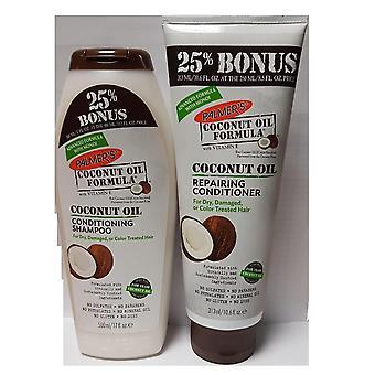 Palmers formuły olej kokosowy szampon-500ml & naprawy Conditioner 250ml Bonus rozmiary