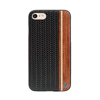 Stylish Weave Genuine Wood iPhone SE / 8 / 7 Case