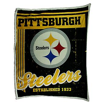 Pittsburgh Steelers Super Soft Sherpa Style Throw Blanket