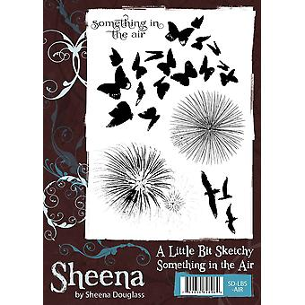 Sheena Douglass A Little Bit Sketchy A6 Rubber Stamp Set - Something in the Air
