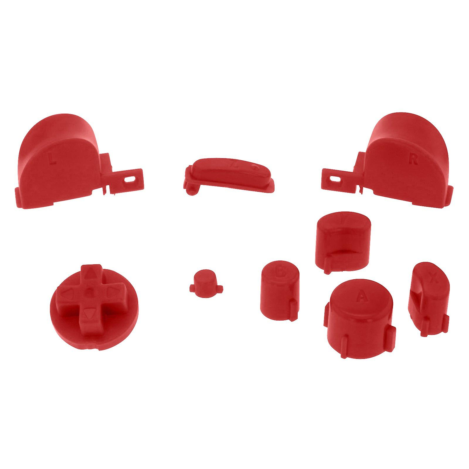 Replacement button set mod kit for nintendo gamecube controllers - red