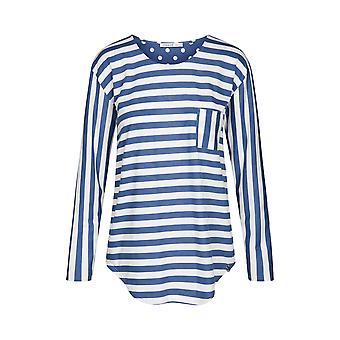 Féraud 3191084-16342 Women's Casual Chic Indigo Ringlet Blue Cotton Pyjama Top