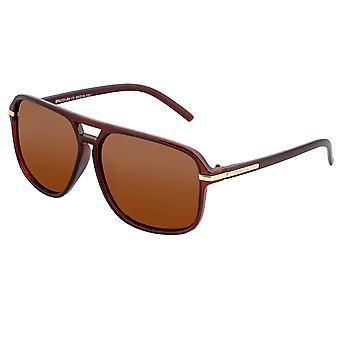 تبسيط النظارات الشمسية المستقطبة ريد - براون / براون