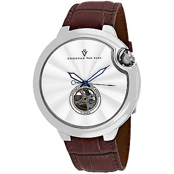 Christian Van Sant Uomo's Cyclone Automatic Silver Dial Watch - CV0141