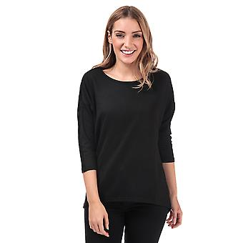 Womens Vero Moda Malena Lurex Trim Top In Black