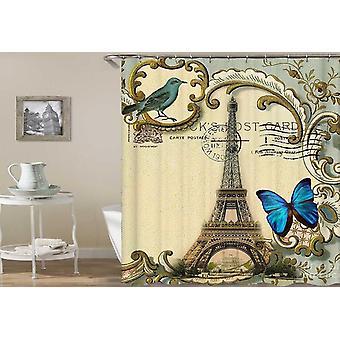 Eiffel Tower Postcard Shower Curtain