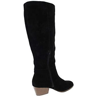 Style & Co. Womens Izalea Faux Suede Stacked Dress Boots