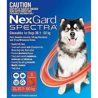 Nexgard ספקטרום XL 30-60 ק ג (66-130 ליברות)-6 pack