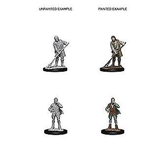 Pathfinder Deep Cuts Unpainted Miniatures Towns People  (Pack of 6)