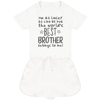 I'm As Lucky As Can Be Best Brother belongs to me! Baby Playsuit