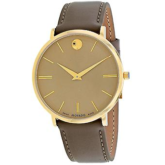 Movado Hombres's Ultra Slim Gold Dial Watch - 607375
