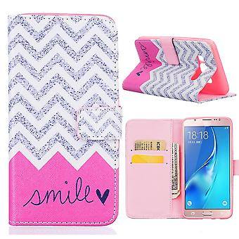 Galaxy Case J5 (2016) Grey Smile And Rose Pattern - Crazy Kase
