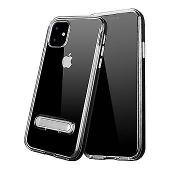 Case Kickstand for Apple iPhone 11 (6.1) Transparent Black