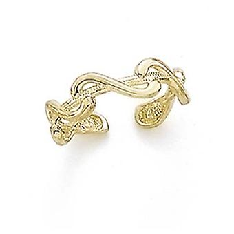 14k Yellow Gold Swirl Toe Ring Jewelry Gifts for Women - 1.3 Grams