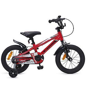 Vélo pour enfants 14 Shine alliage rouge, roues de soutien, réflecteurs, cloche, garde à chaîne