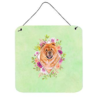 Chow Chow #1 Green Flowers Wall or Door Hanging Prints