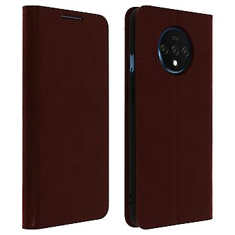 Business leather book case, stand case for Oneplus 7T - Brown