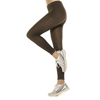Solidea Silver Wave Long Ladies Compression Leggings [Style 355A5] Fumo (Dark Grey)  XL