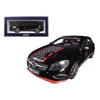 2013 Mercedes A Class Sport Equipment Black with Racing Deco 1/18 Diecast Car Model par Norev