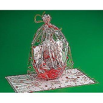 12 stora Valentine Design cellofanpåsar för stötfångaren part väskor eller korg Wraps
