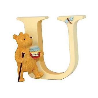 Classic Pooh Alphabet Letter U Winnie The Pooh Walking Figurine