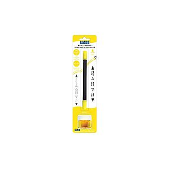 PME Brush N Fine Pen Yellow