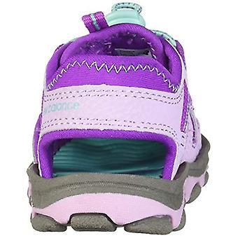 New Balance Unisex Kid's Adirondack Sandal Sport, Grey/Purple, G6 M US Big