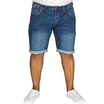 Duke D555 Mens Nate Big Tall King Size Stretch Casual Denim Shorts - Vintage