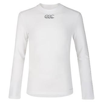 Canterbury Thermoreg Junior Manica lunga Top Bianco