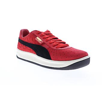 Puma Gv Special Lux  Mens Red Suede Lace Up Low Top Sneakers Shoes