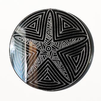 Mandala sjøstjerner sirkel gravert akryl speil