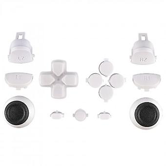 Button set for ps4 pro controllers sony jdm-040 mod set trigger, action, d-pad & option / share button set - white | zedlabz