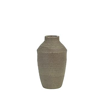 Licht & lebende Vase Deco 10x17cm Bolson grau
