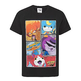 Yo-Kai Watch Character Panels Boy's T-Shirt