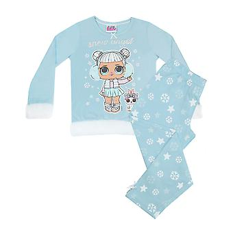 LOL Surprise Dolls Snow Angel Fur Trimmed Girl's Long Pyjamas