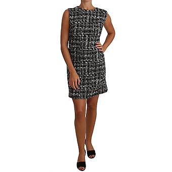 Dolce & Gabbana Gray Mini Shift Checker Dress