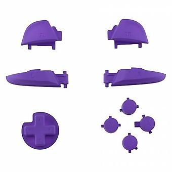 Button set for nintendo switch pro controller replacement a b x y, d-pad, l r zr zl triggers soft touch - purple | zedlabz