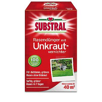SUBSTRAL® lawn fertilizer with weed killer, 800 g