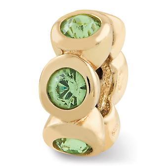 925 Sterling Silver polerad 14k Guldpläterade reflektioner augusti Crystal Pärla Charm Hängande Halsband Smycken Gåvor för kvinnor