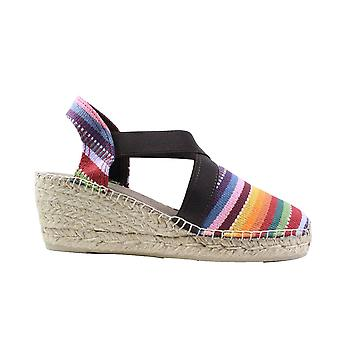 Toni Pons Tarbes Nord Multi Coloured Canvas Womens Wedge Heel Espadrille Shoes