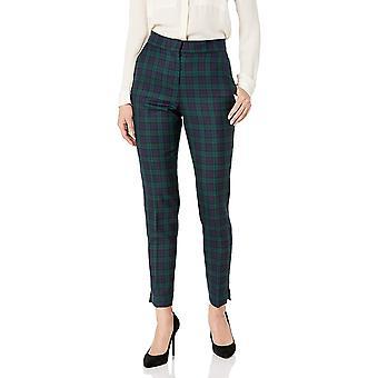 Pendleton Women's Wool Ankle Pants, Small Black Watch Plaid, 12