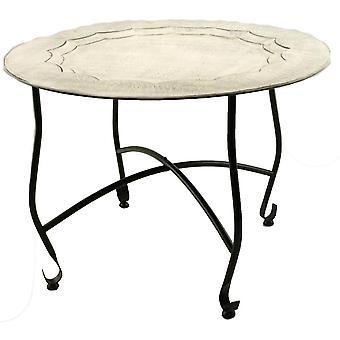 Tisch auf Rack 59cm weiß getüncht Marokkanische