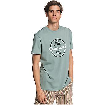Quiksilver Words Remain Short Sleeve T-Shirt in Chinois Green