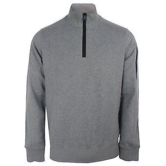 Paul & shark men's grey quarter zip sweatshirt