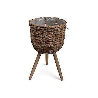 Flèche de couleur naturelle de pot avec trois jambes 44 cm