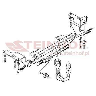 Steinhof Automatic Detach Towbar (Vertical) for Toyota AVENSIS Estate 2009-2014